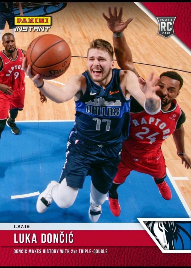 2018-19 Panini Instant NBA #92 Luka Doncic RC Rookie Card Dallas Mavericks Print Run 902