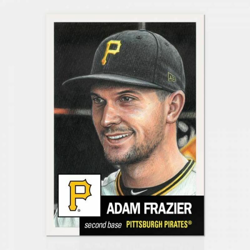 2019 Topps The Living Set Baseball #141 Adam Frazier Pittsburgh Pirates  Official MLB ONLINE EXCLUSIVE SOLD OUT at Topps