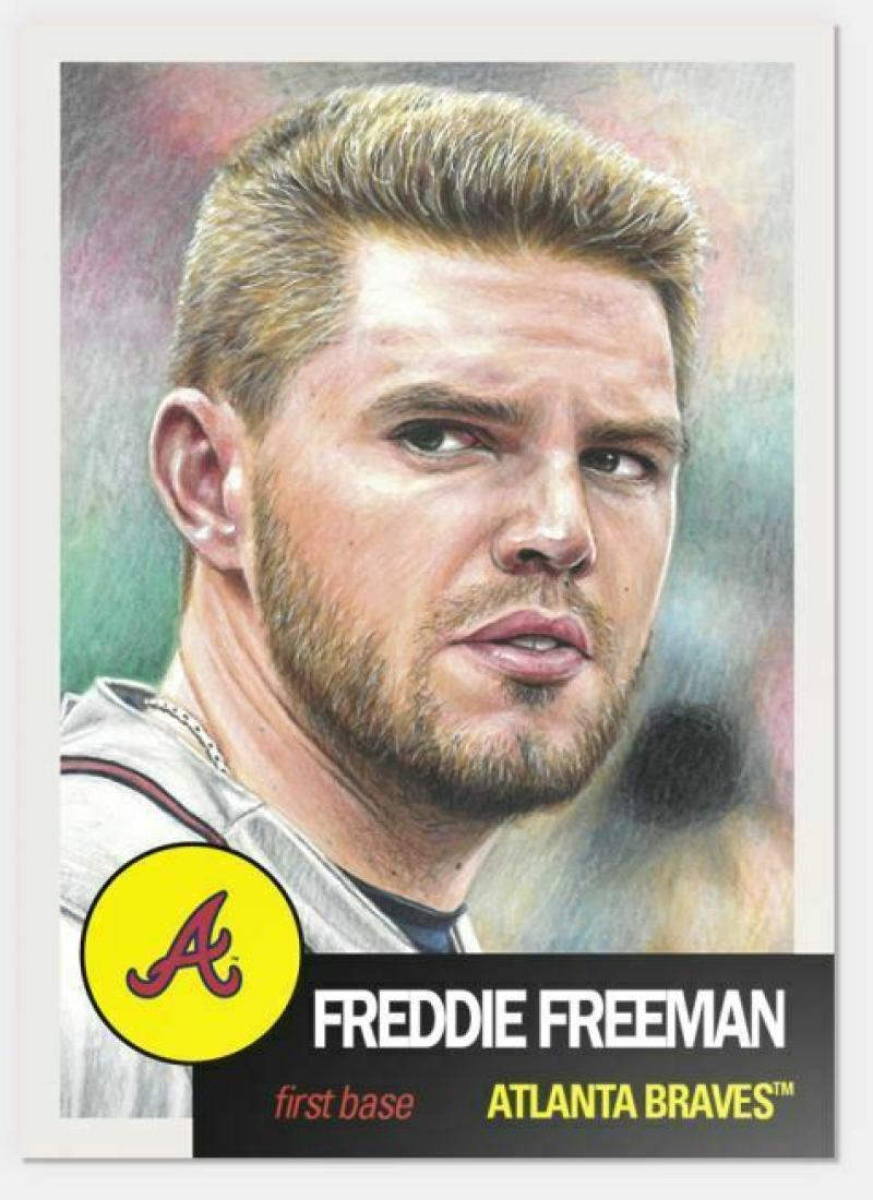 2019 Topps The MLB Living Set Baseball #142 Freddie Freeman Atlanta Braves  Official MLB ONLINE EXCLUSIVE SOLD OUT at Topps