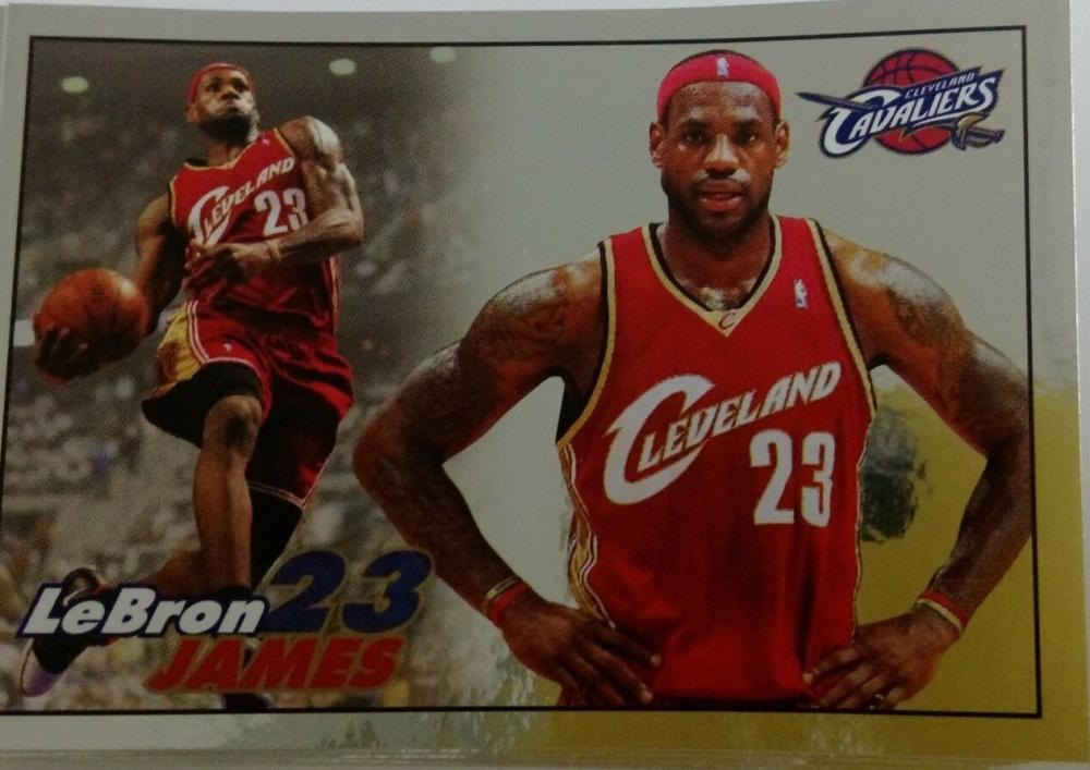 2009-10 Panini NBA Stickers #68 LeBron James Cleveland Cavaliers Official Basketball Sticker (2 by 3 inches)