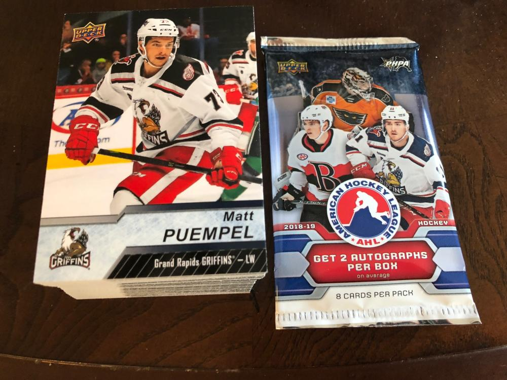 2018-19 Upper Deck AHL Complete Hand Collated Base Set of 100 Cards No Short Prints