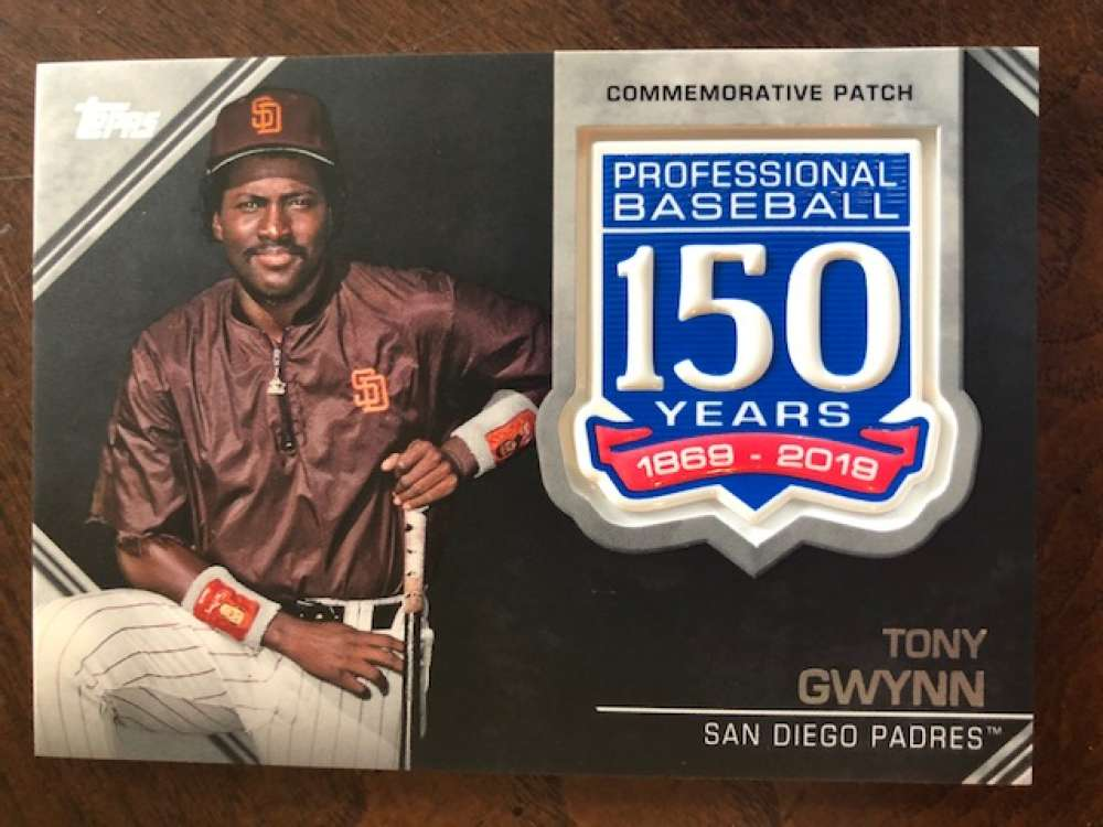 2019 Topps Series 2 150th Anniversary Commemorative Patch #AMP-TG Tony Gwynn San Diego Padres  Official MLB Baseball Trading Card BLASTER EXCLUSIVE