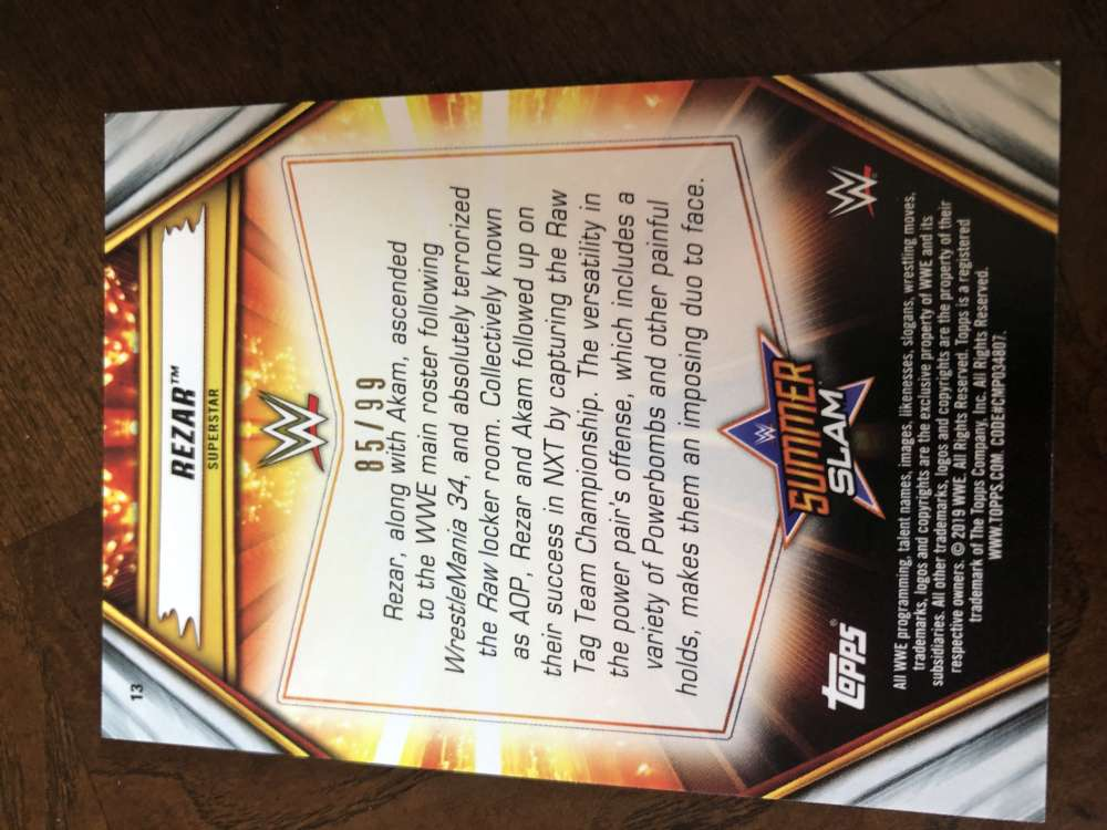 2019-WWE-Topps-SummerSlam-Parallels-Logo-Mat-Shirt-Relics-Pick-Your-Cards-Lot thumbnail 145