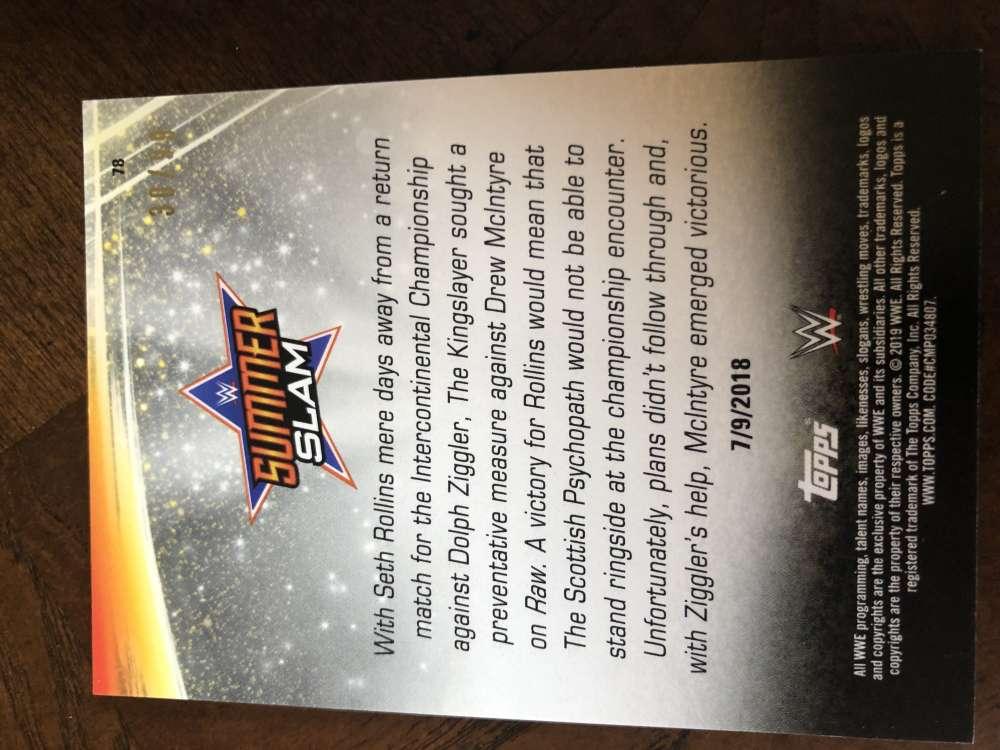 2019-WWE-Topps-SummerSlam-Parallels-Logo-Mat-Shirt-Relics-Pick-Your-Cards-Lot thumbnail 147