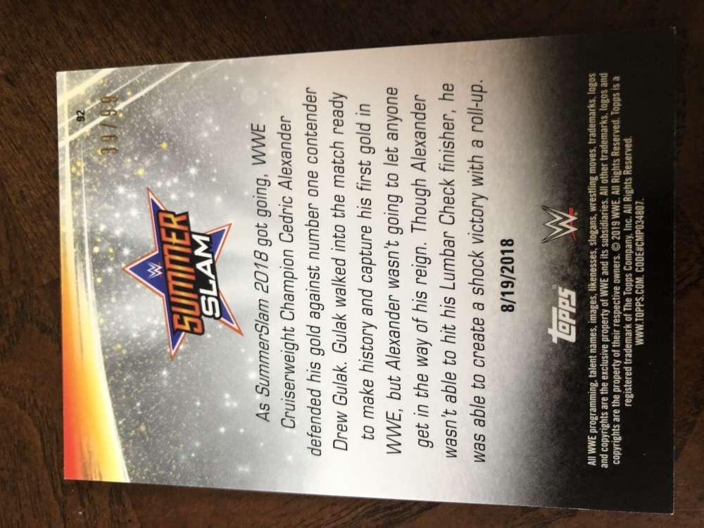 2019-WWE-Topps-SummerSlam-Parallels-Logo-Mat-Shirt-Relics-Pick-Your-Cards-Lot thumbnail 149