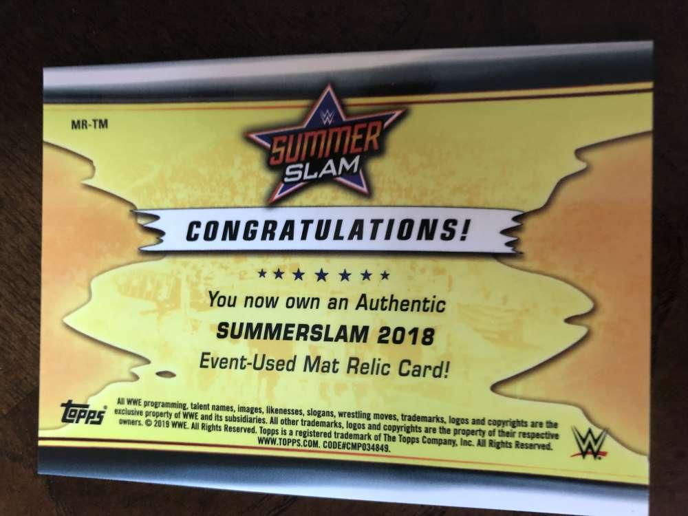 2019-WWE-Topps-SummerSlam-Parallels-Logo-Mat-Shirt-Relics-Pick-Your-Cards-Lot thumbnail 159