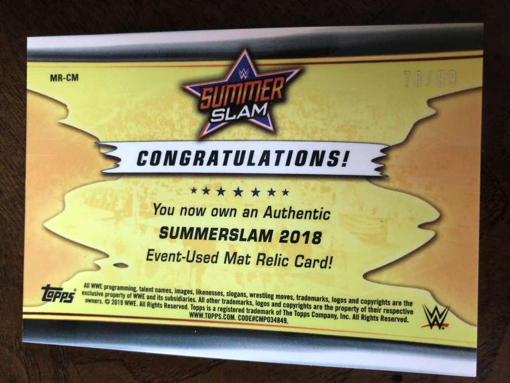 2019-WWE-Topps-SummerSlam-Parallels-Logo-Mat-Shirt-Relics-Pick-Your-Cards-Lot thumbnail 163