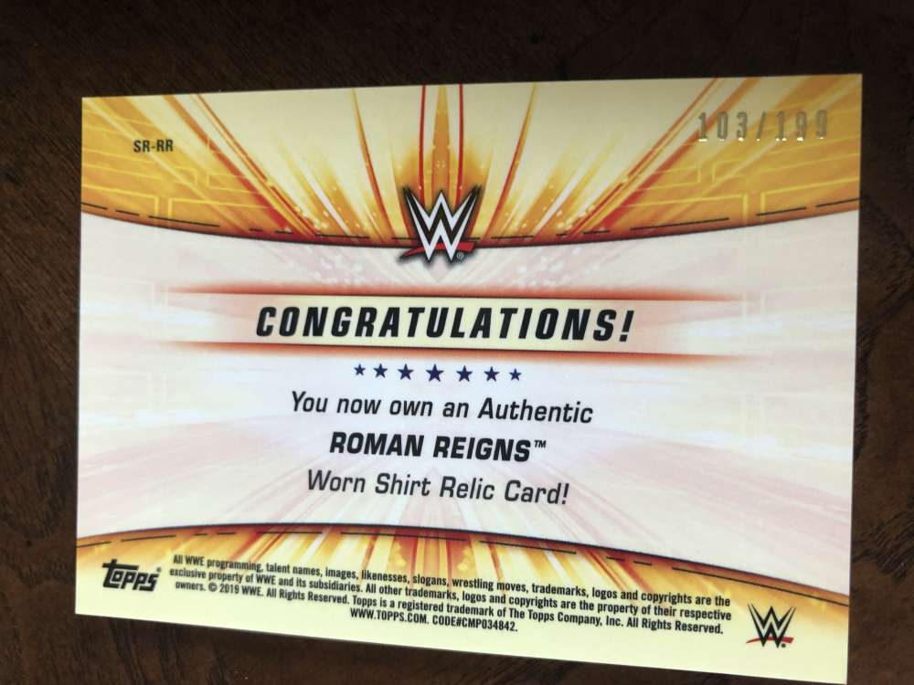 2019-WWE-Topps-SummerSlam-Parallels-Logo-Mat-Shirt-Relics-Pick-Your-Cards-Lot thumbnail 169