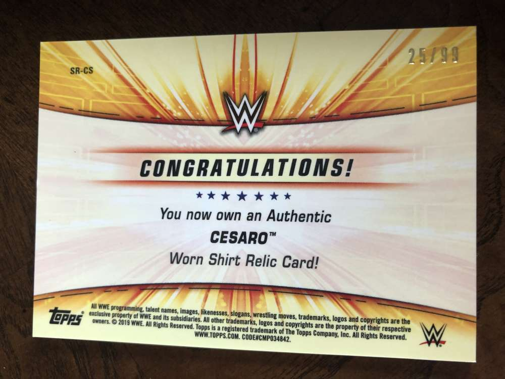 2019-WWE-Topps-SummerSlam-Parallels-Logo-Mat-Shirt-Relics-Pick-Your-Cards-Lot thumbnail 171