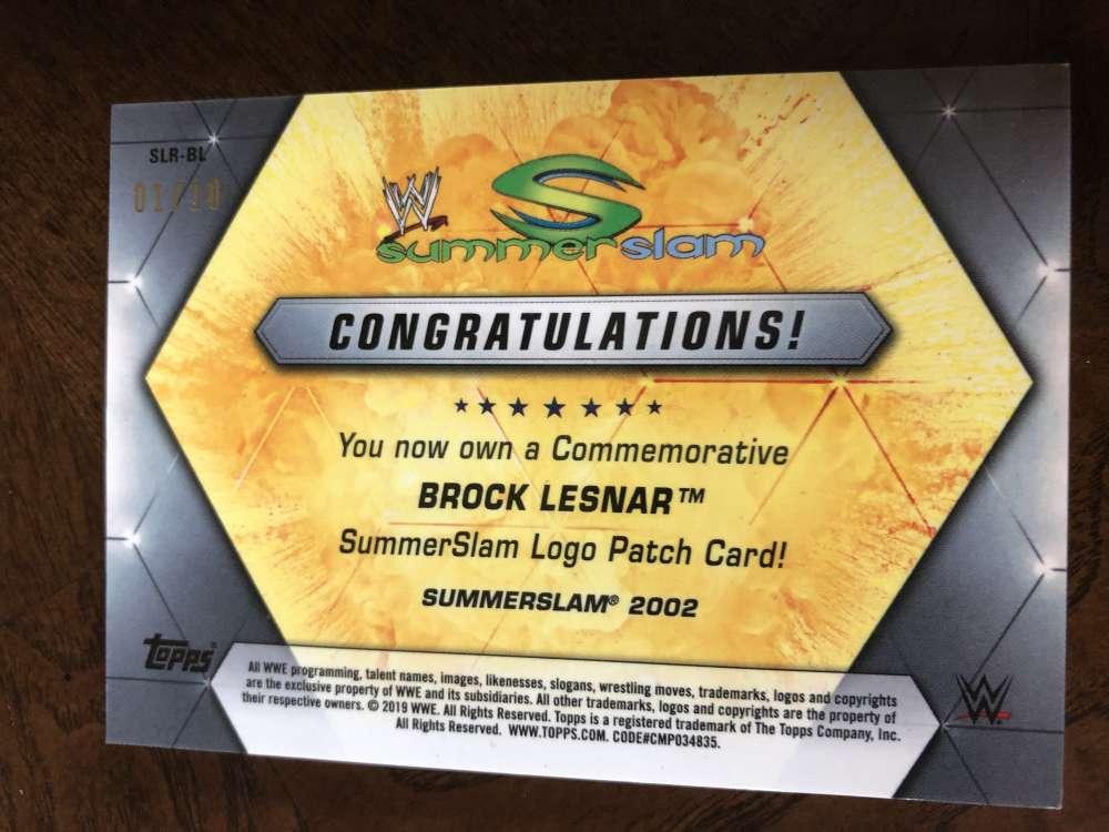 2019-WWE-Topps-SummerSlam-Parallels-Logo-Mat-Shirt-Relics-Pick-Your-Cards-Lot thumbnail 177