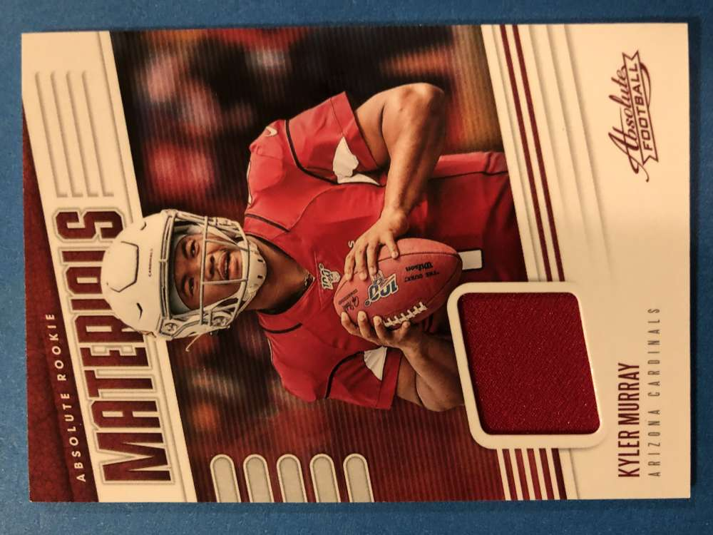 2019 Absolute Football Absolute Rookie Materials #26 Kyler Murray Jersey Piece Arizona Cardinals  RC Official Panini NFL Trading Card