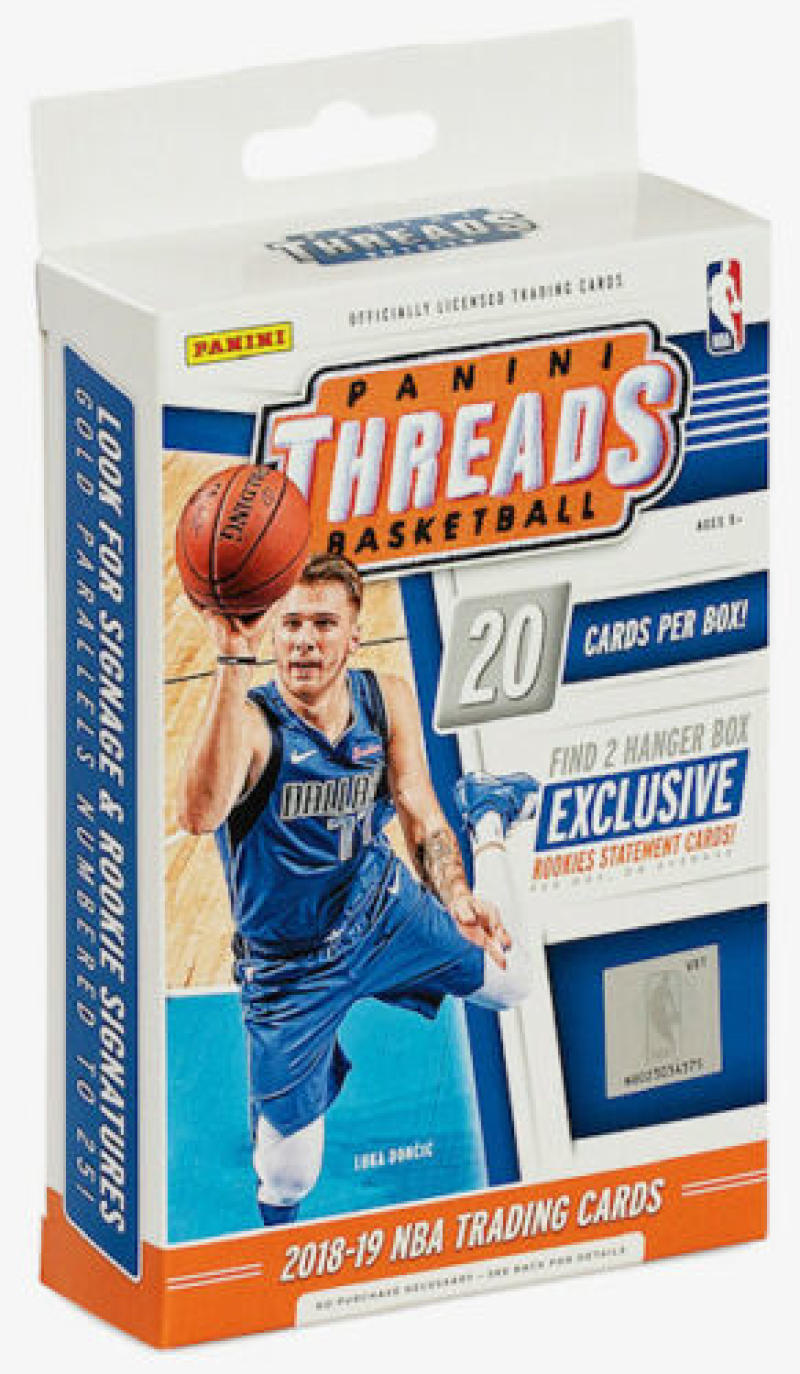 2018-19 Panini Threads Hanger Box 20 Cards Per Box w 2 Exclusive Rookie Statement Cards Possible Luka Doncic