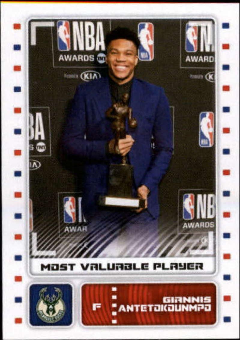 2019-20 Panini Basketball Stickers #81 Giannis Antetokounmpo MVP Milwaukee Bucks Official NBA Sticker Collection Album Peelable Card (Paper thin and a