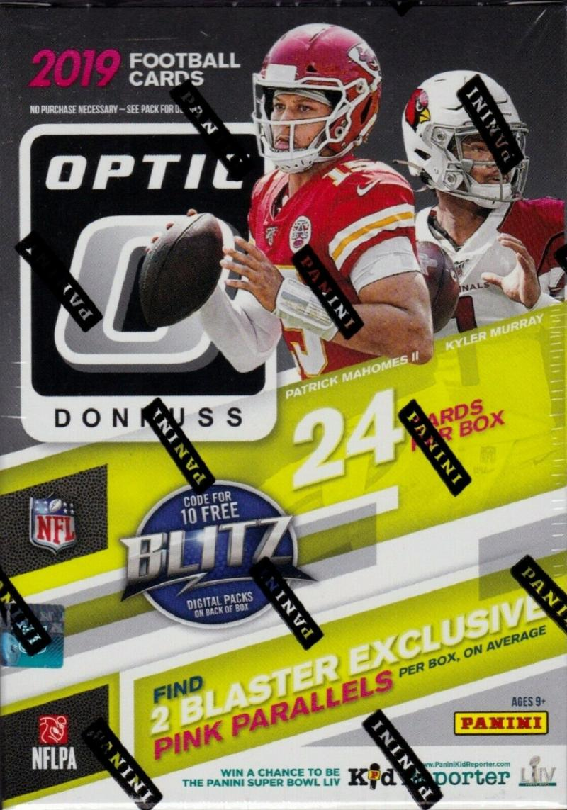 2019 Donruss Optic NFL Football Sealed Blaster Box containing 6 packs of 4 NFL cards