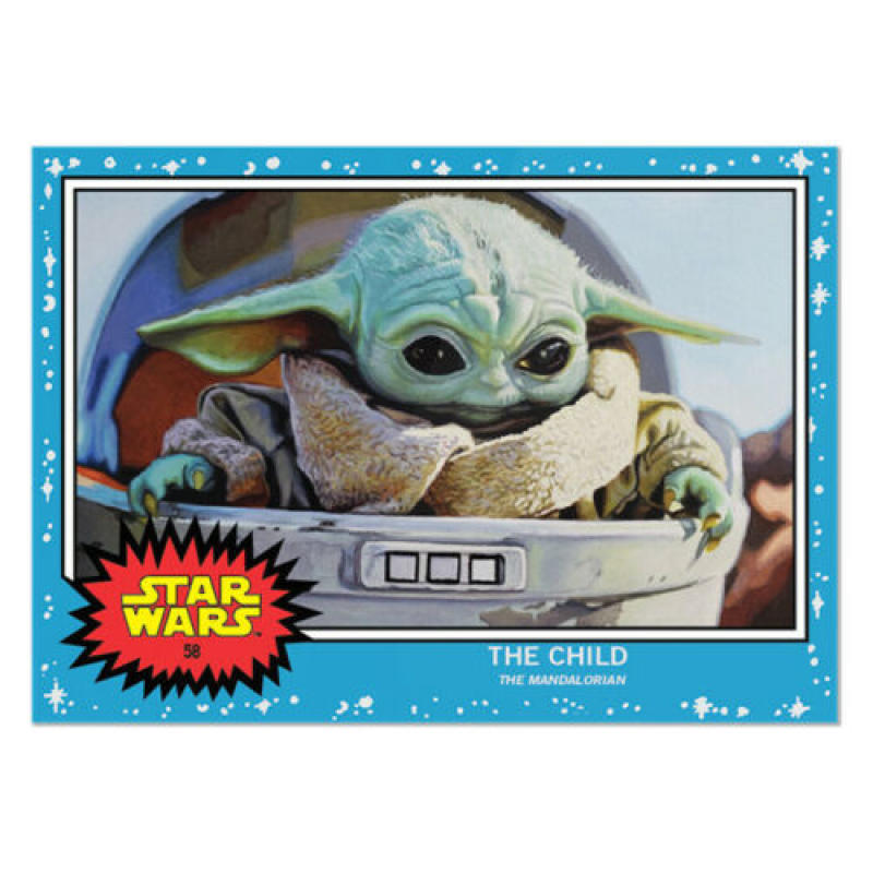 2019 Topps Star Wars Living Set #58 The Child (Baby Yoda) The Mandalorian RC Rookie Card His First Card Ever Produced