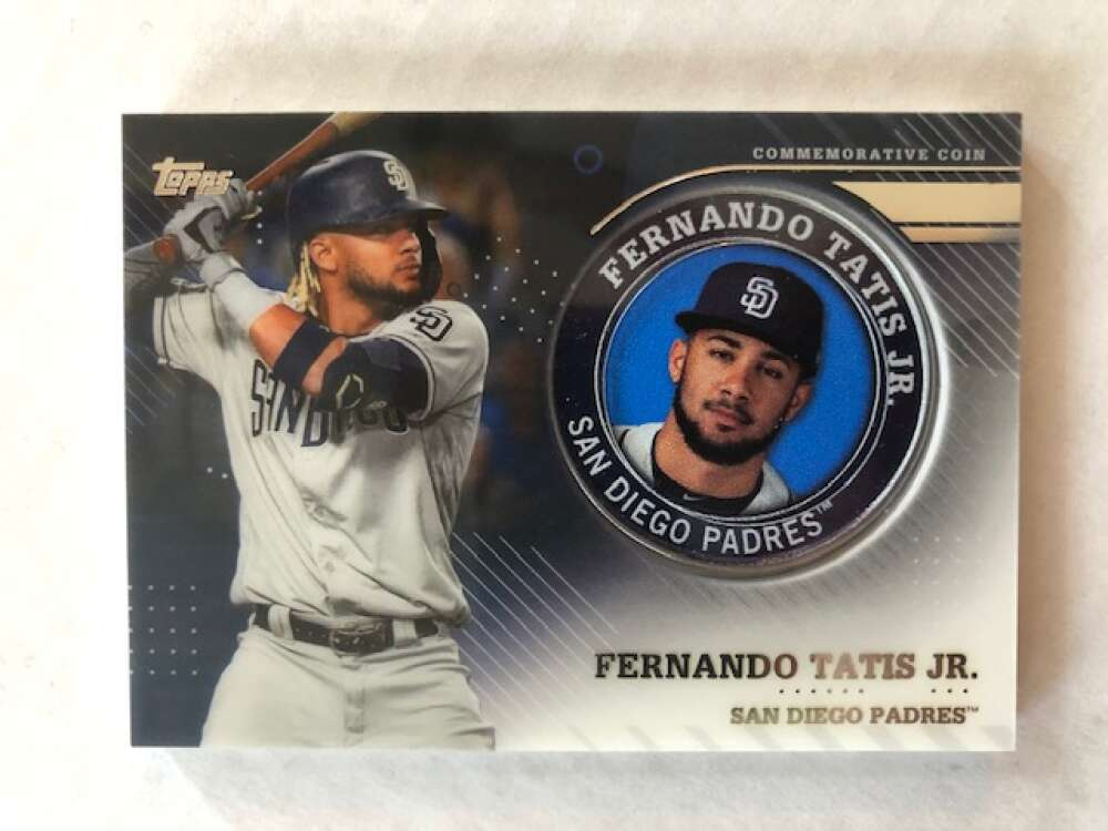 2020 Topps Series 2 Baseball Player Medallion Coin #TPM-FT Fernando Tatis Jr. San Diego Padres  Official Blaster Exclusive Trading Card