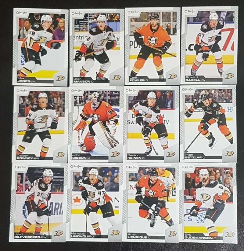2020-21 O-Pee-Chee OPC Anaheim Ducks Base Team Set of 12 Cards:  #10 Max Jones  #65 Josh Manson  #96 Cam Fowler All Cards Pack Fresh, Hand Co