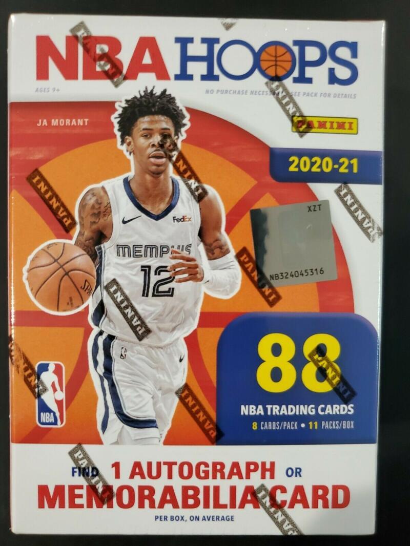 2020-21 NBA Hoops Factory Sealed Blaster Box 88 Cards 1 Autograph or Mem
