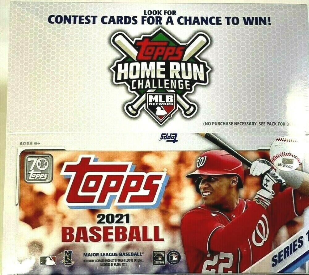 2021 Topps Series 1 Baseball Factory Sealed Retail Box 24 Packs