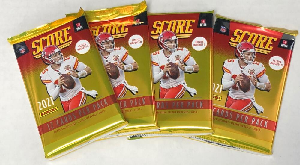 2021 Panini Score NFL Football Retail 4 Sealed Packs Lot of 12 cards each Pack. 48 CARDS IN ALL!