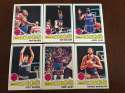 1977-78 Topps NBA Kansas City Kings Team Set Near Mint 6 Cards