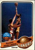 1979-80 Topps Los Angeles Lakers Team Set 6 Cards Kareem Abdul-Jabbar NrMt