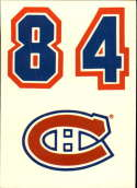 1985-86 Topps Sticker Inserts Montreal Canadiens Logo Card