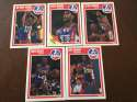 1989-90 Fleer New Jersey Nets Team Set 5 Cards Chris Morris