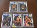 1989-90 Fleer Indiana Pacers Team Set 5 Cards Reggie Miller Rik Smits