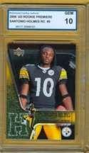 2006 GEM  10 UD Rookie Premiere Santonio Holmes RC # 9 Steelers b