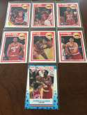 1989-90 Fleer Houston Rockets Team Set Akeem Olajuwon 7 Cards w AS Sticker