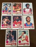 1977-78 Topps NBA New Jersey Nets Team Set Near Mint 8 Cards