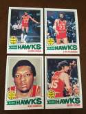 1977-78 Topps NBA Atlanta Hawks Team Set Near Mint 4 Cards
