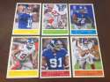 2009 Upper Deck Philadelphia Base Team Set New York Giants