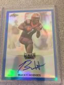 Football NFL 2017 Leaf Metal Draft Autographs Blue #BA-BH1 Bucky Hodges MINT Auto 50/50