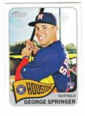 Baseball MLB 2014 Topps Heritage Factory High Numbers #H557 George Springer NM-MT RC Rookie Astros
