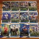 2017 Donruss NFL Team Set With RC Detroit Lions KENNY GOLLADAY