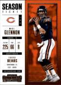 2017 Panini Contenders #27 Mike Glennon Chicago Bears