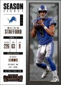 2017 Panini Contenders #28 Matthew Stafford Detroit Lions
