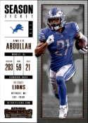 2017 Panini Contenders #29 Ameer Abdullah Detroit Lions