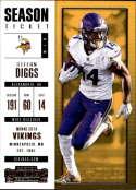2017 Panini Contenders #34 Stefon Diggs Minnesota Vikings