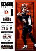 2017 Panini Contenders #40 Andy Dalton Cincinnati Bengals