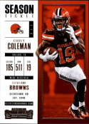 2017 Panini Contenders #43 Corey Coleman Cleveland Browns
