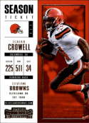2017 Panini Contenders #45 Isaiah Crowell Cleveland Browns