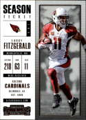 2017 Panini Contenders #51 Larry Fitzgerald Arizona Cardinals