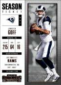 2017 Panini Contenders #52 Jared Goff Los Angeles Rams