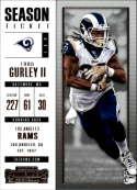 2017 Panini Contenders #53 Todd Gurley II Los Angeles Rams