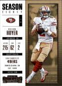 2017 Panini Contenders #55 Brian Hoyer San Francisco 49ers