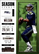 2017 Panini Contenders #58 Russell Wilson Seattle Seahawks