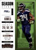 2017 Panini Contenders #59 Thomas Rawls Seattle Seahawks